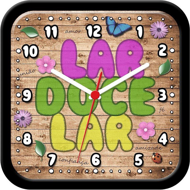 Relógio de Parede Divertido - Lar Doce Lar