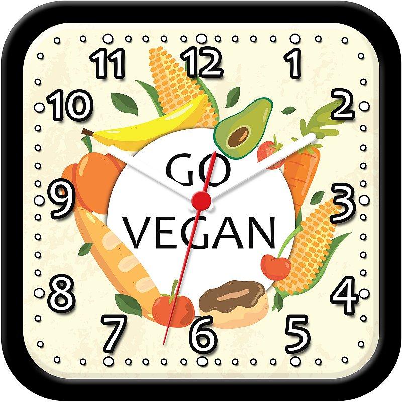 Relógio de Parede Divertido - Go Vegan