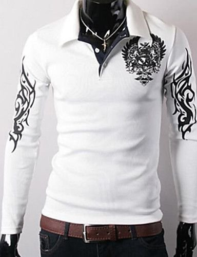 Camisa Polo Geométrica Manga Longa - Camisas Luxury  Loja Online de ... b881abf4c3e03
