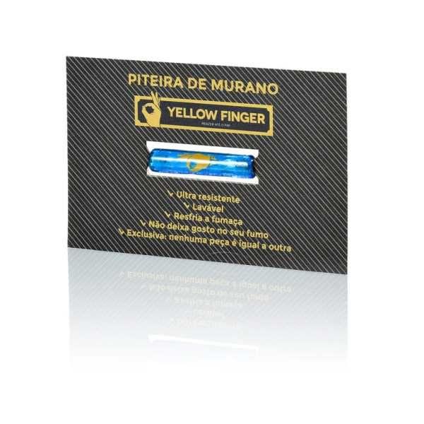 Piteira de Vidro Murano Yellow Finger