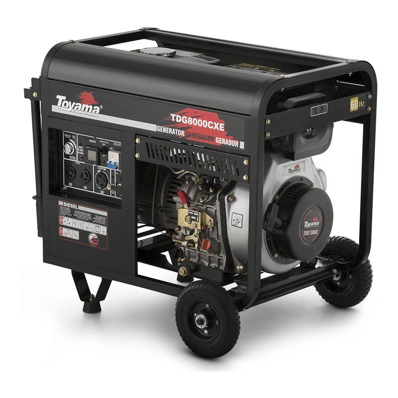 ffb6d6d47e0 Gerador de Energia a Diesel Partida Elétrica 8000W 13HP Trifásico 220V ...