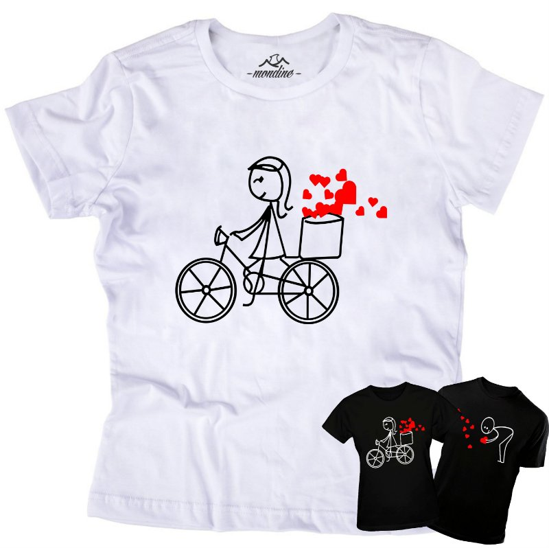 Babylook Feminina do KIT Bike do amor (apenas a Babylook) - Mondine