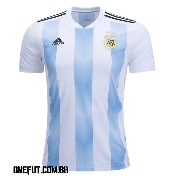 ONEFUT - CAMISA DE FUTEBOL ARGENTINA I 2018 - Onefut Sports 1c9b371de4b2c