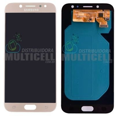 GABINETE FRONTAL DISPLAY LCD TELA TOUCH SCRENN MODULO COMPLETO SAMSUNG J730  GALAXY J7 PRO DOURADO ( 3962708574