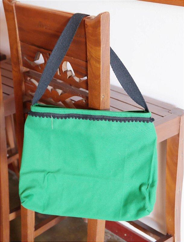 Bolsa de lona verde bandeira