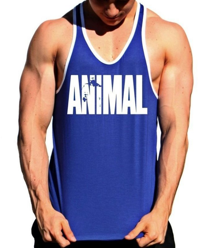 Regata Cavada Animal Azul com Viés