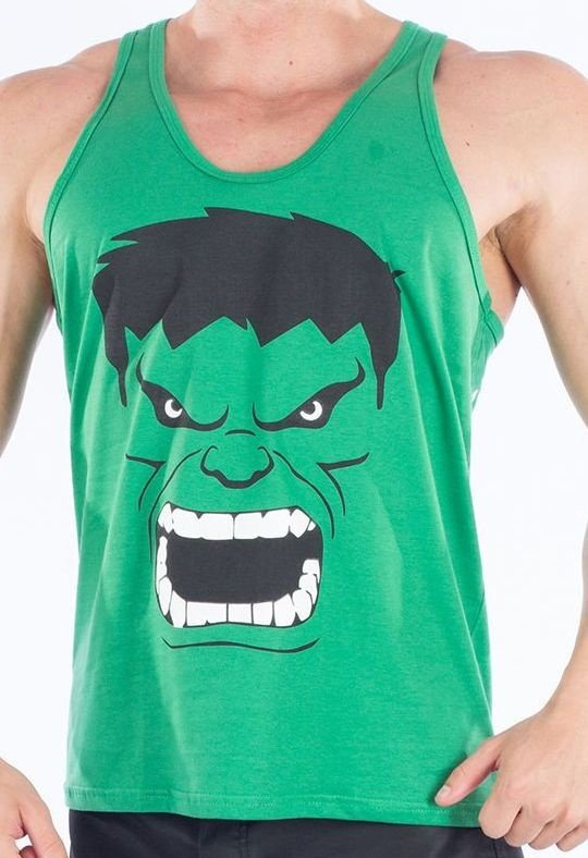Regata Musculação Masculina Incrível Hulk