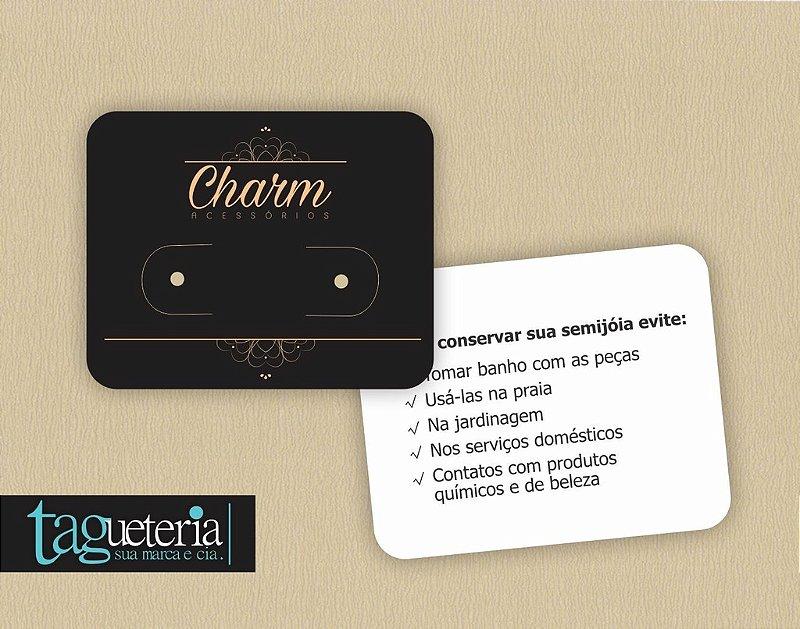 Tag/Cartela para Brinco Personalizada  - 5x4CM - 1000un