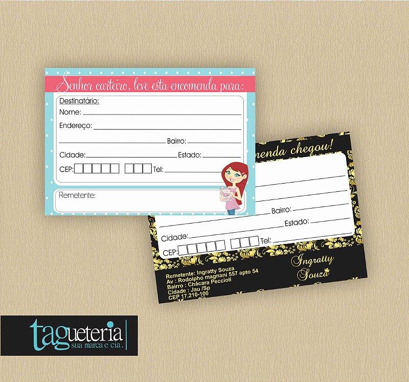Adesivo Personalizado para Correspondência/Correios - 10X5cm