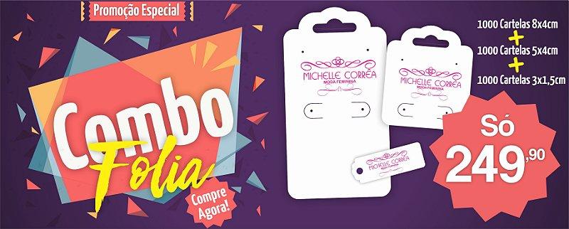 Kit Tags/Cartelas para Bijuteria - Personalizado - Couche 250g - 3000un