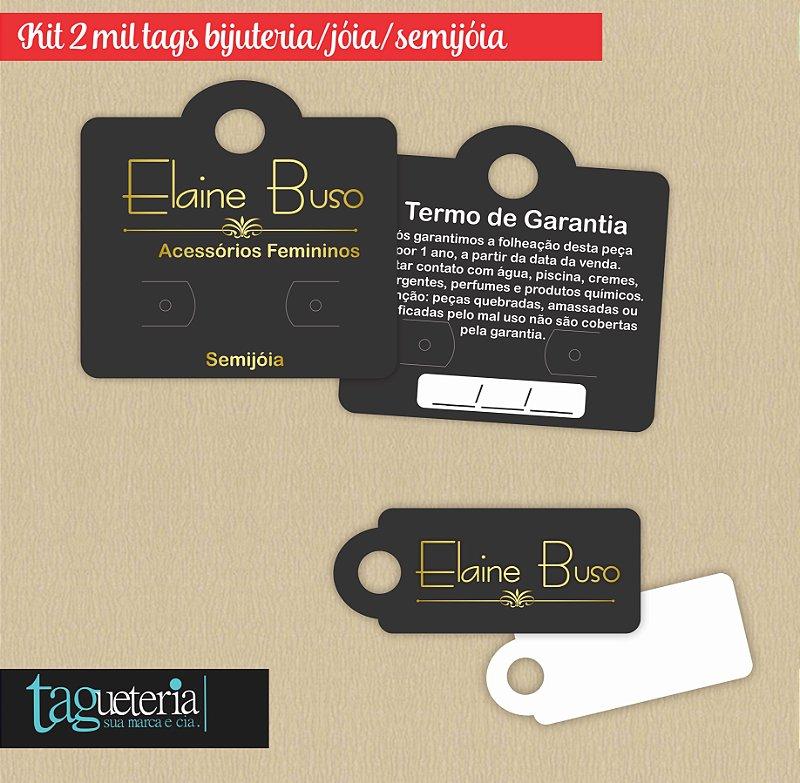 Kit Promocional Bijuteria / 2mil Tags Couche  250g