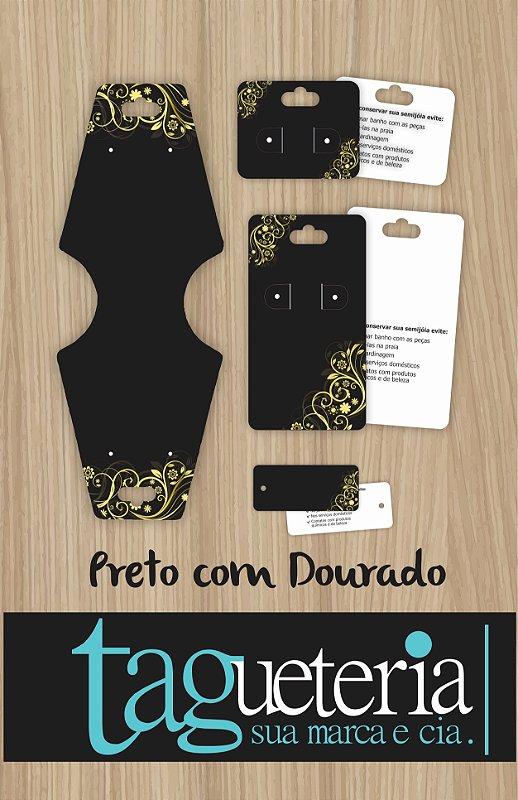 Kit Cartelas/Tags para Bijuteria - Pronta Entrega - 400un - Supremo 300g (Não Personalizado)