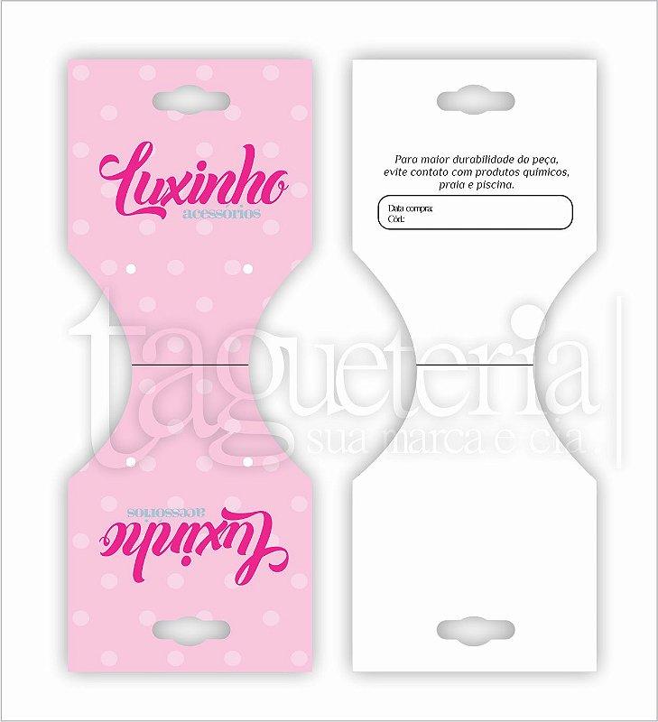 Tag/Cartela para Bijuteria - Personalizada - Couche 250g - 13x6cm