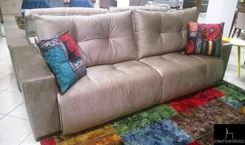 Sofá Retrátil com molas ensacadas com 2,90m , abertura 60cm.