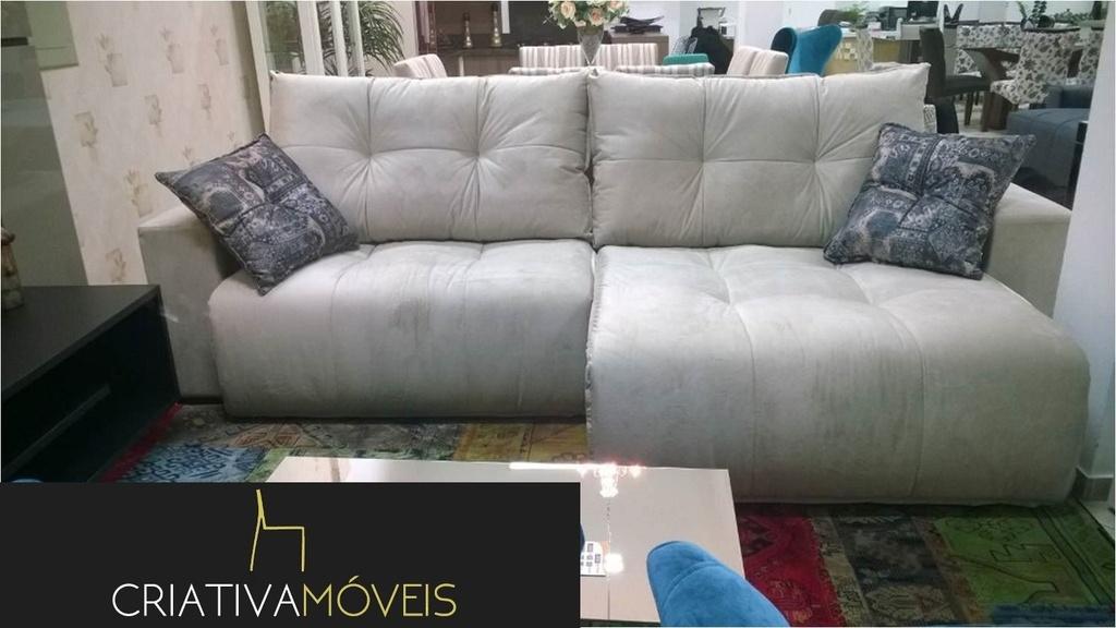 Sofá com alto padrão de conforto, retrátil com molas ensacadas com 2,90m de largura , abertura 60cm.