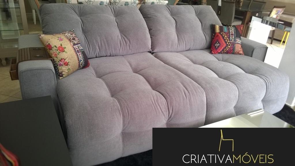 Sofá Retrátil e encosto Reclinável,com molas  2,90m , abertura 60cm.
