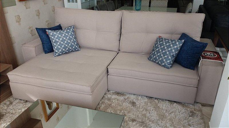 Sofá retrátil e reclinável, com molas no assento, largura 2,95m