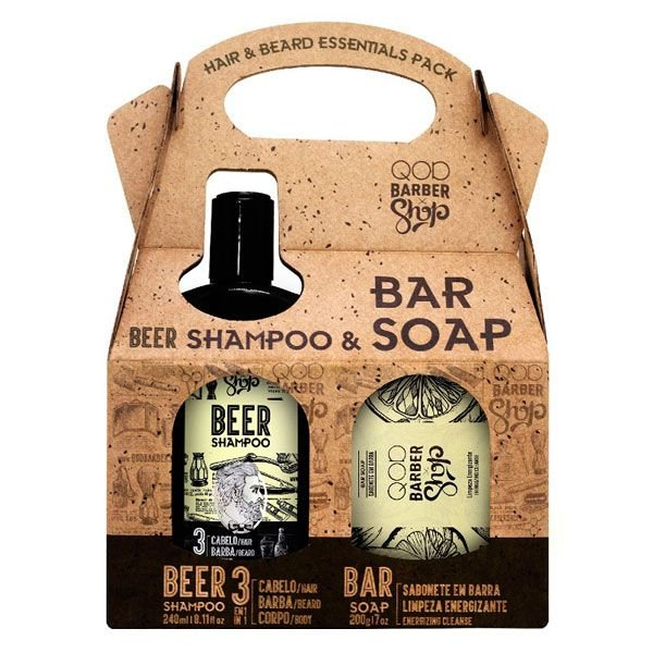 Kit Shampoo Beer & Sabonete - QOD Barber Shop