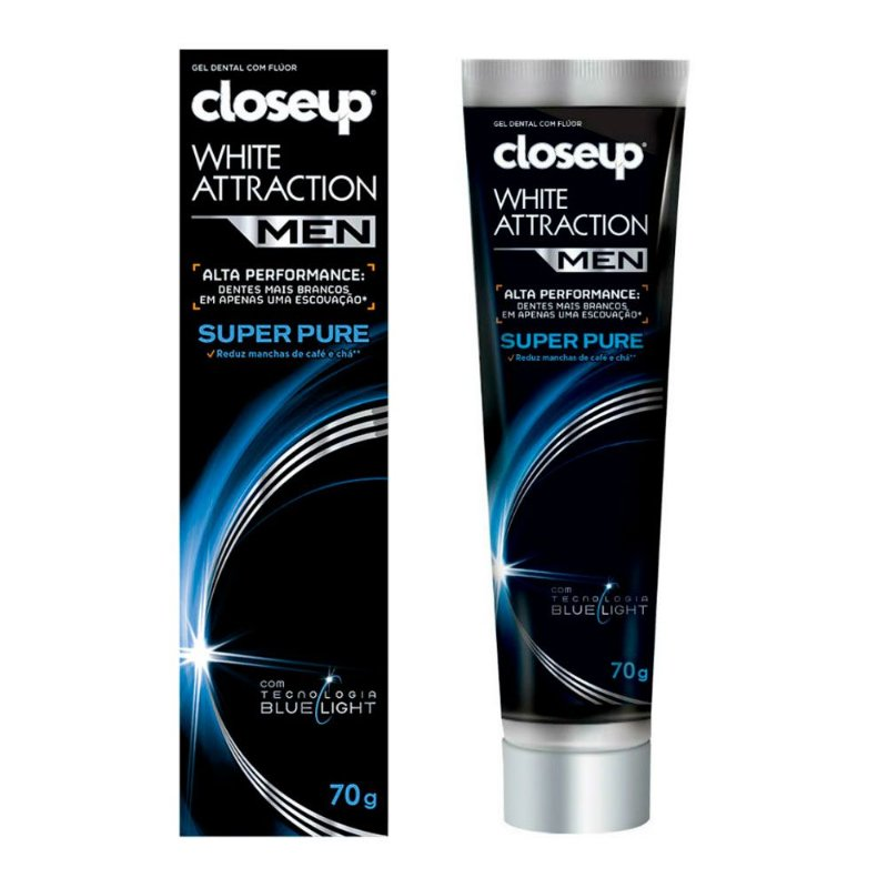 Gel Dental White Attraction Super Pure 70g - Closeup Men