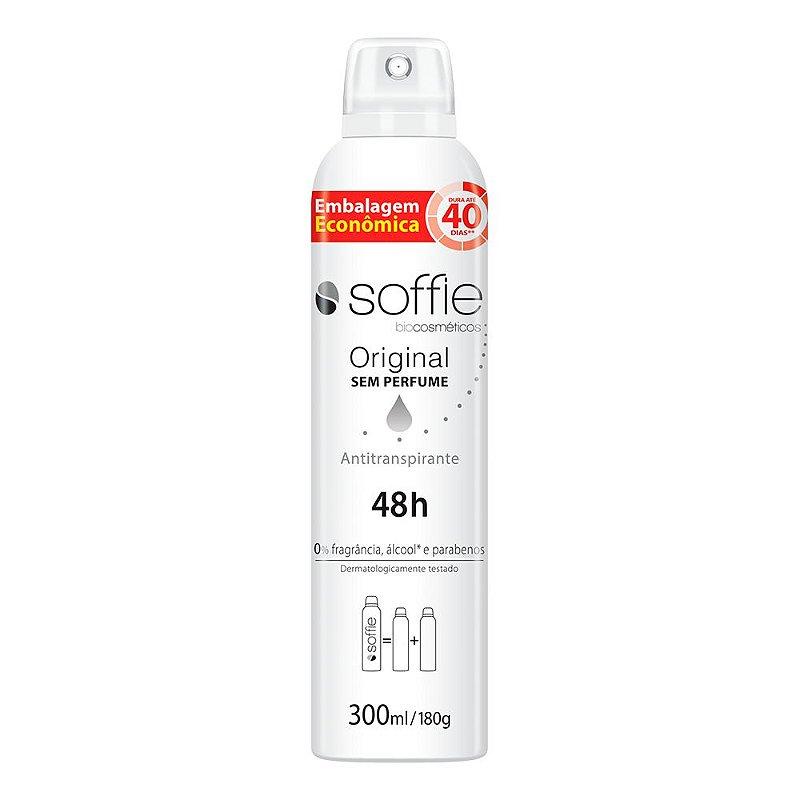 Desodorante Antitranspirante Original Sem Perfume 300ml - Soffie