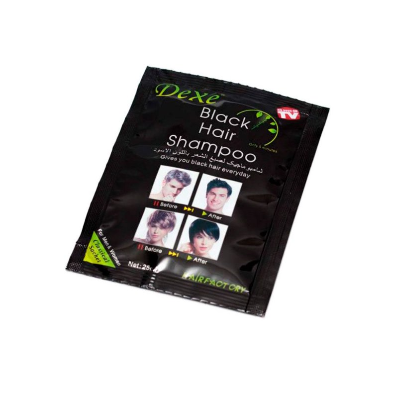 Shampoo Escurecedor de Cabelo Black Hair 25ml - Dexe