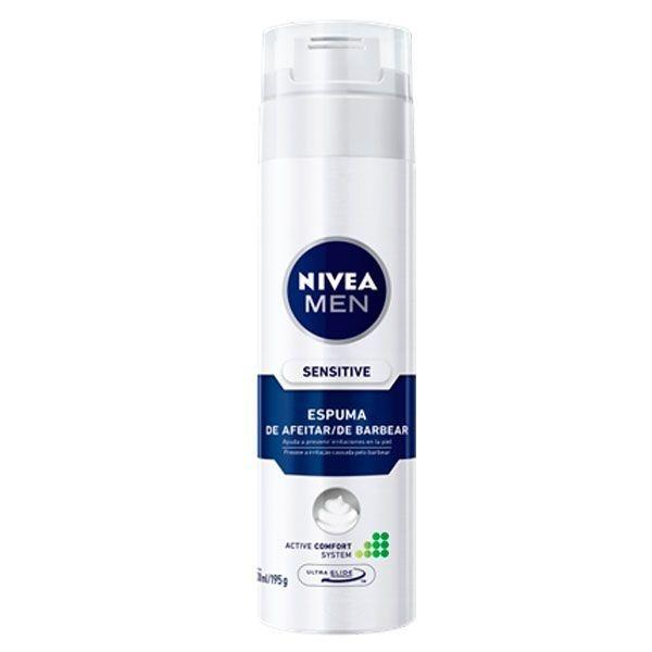 Espuma de Barbear Sensitive 200ml - Nivea Men