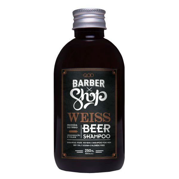 Shampoo para Cabelos Sem Volume Weiss Beer 250ml - QOD Barber Shop