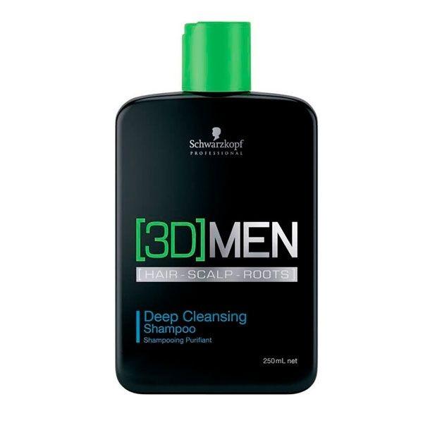 Shampoo Anti-Oleosidade Deep Cleansing 250ml - 3D Men