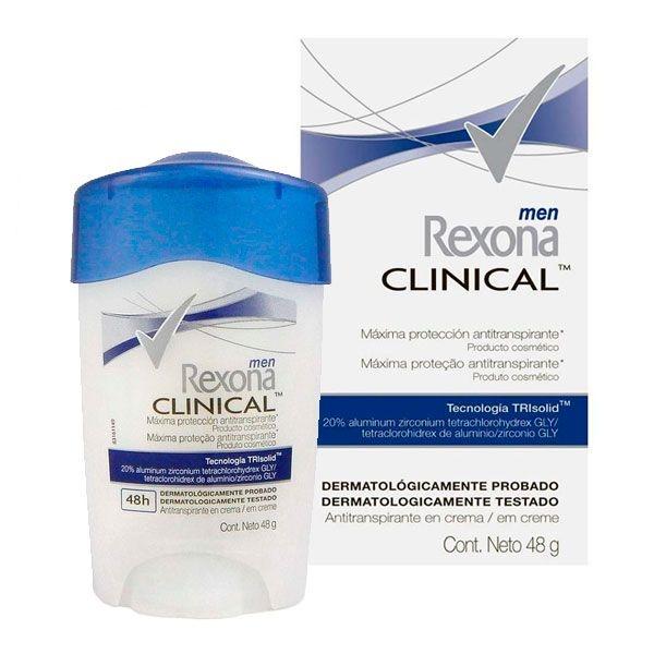 Desodorante Antitranspirante Clinical Stick 48g - Rexona Men