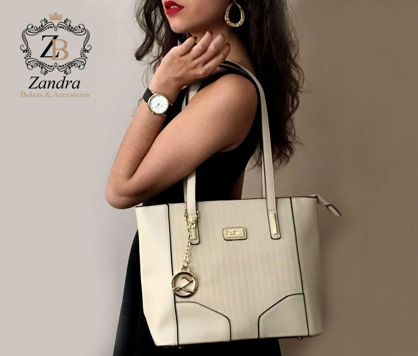 Bolsa de ombro feminina Zeti - Zandra Bolsas c65bef5a9b3
