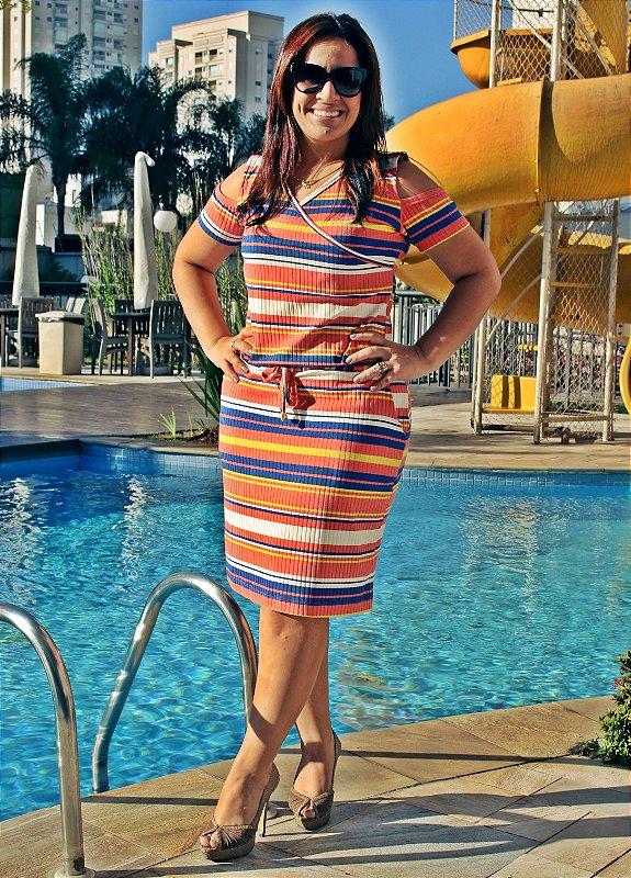 Vestido Ribana Listrado Color