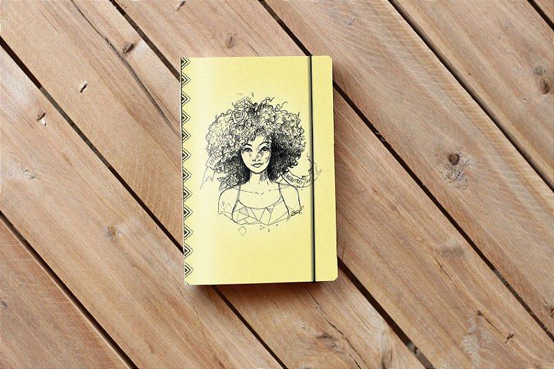 Caderno artesanal de bolso Bodoque ilustrada - Africanidades #1 - Beto Martins