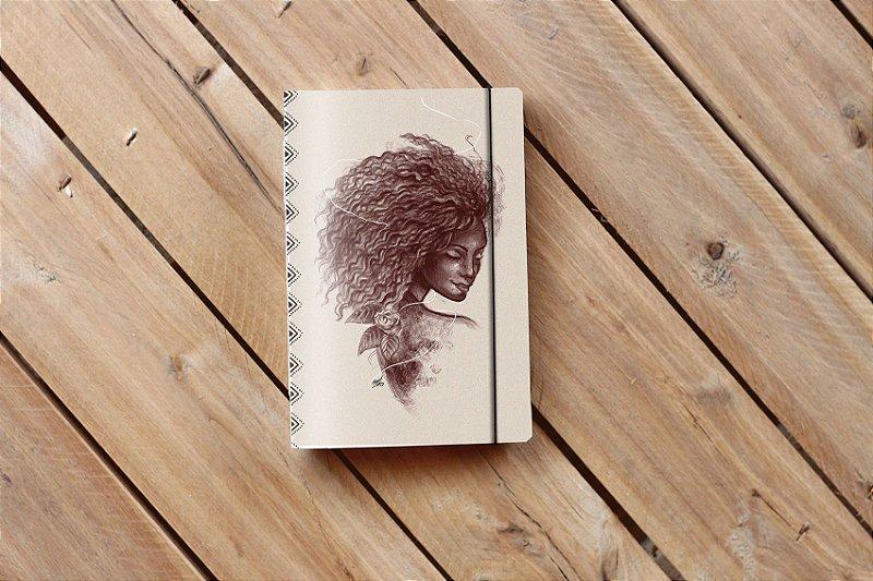 Caderno artesanal de bolso Bodoque ilustrada - Africanidades 4 - Beto Martins