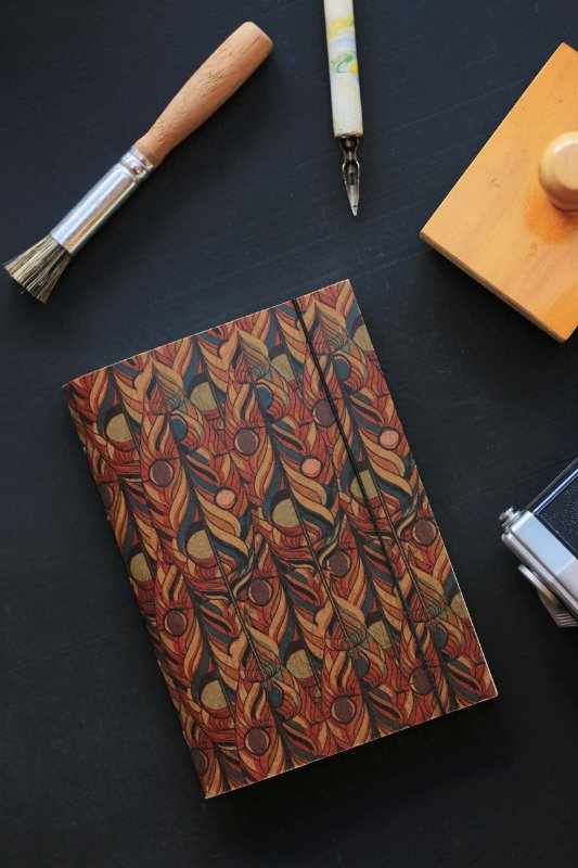 Caderno artesanal a6 - Lucaz Mathias - Cão