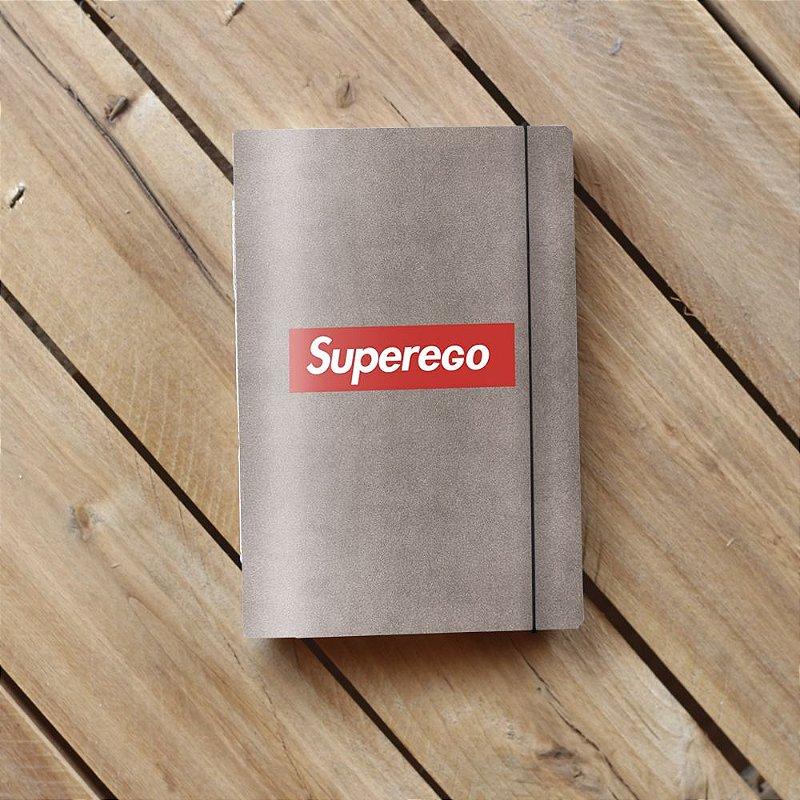 Caderno artesanal de bolso A6 com capa em papel perolado - Superego