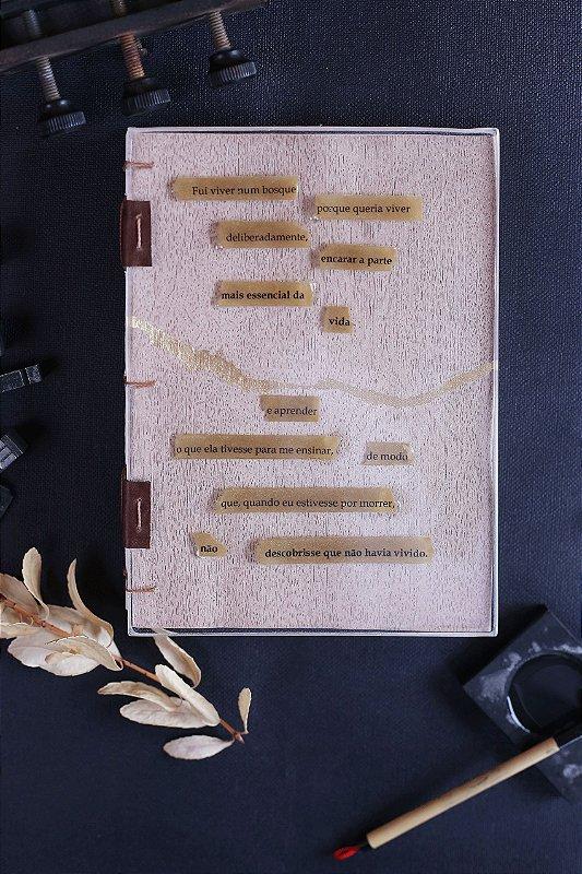 Walden, vida nos Bosques - Caderno artesanal formato A5 - miolo em pólen bold