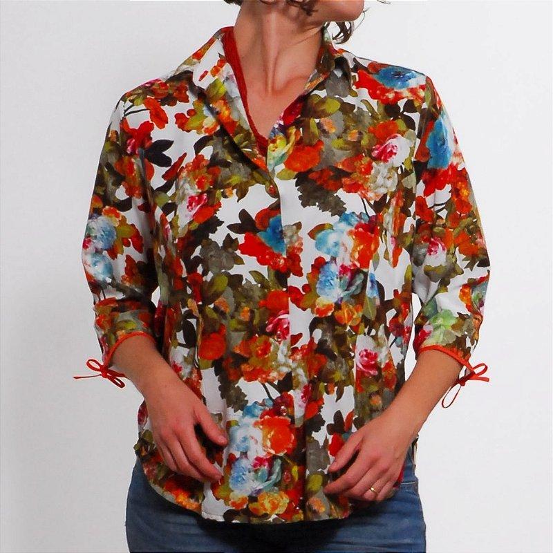 Camisa Plus Size de Viscose Florida