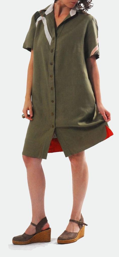 Vestido Plus Size de Linho Puro Nice Garapa