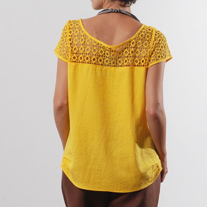 Blusa Plus Size de Tencel Renda Varias Cores