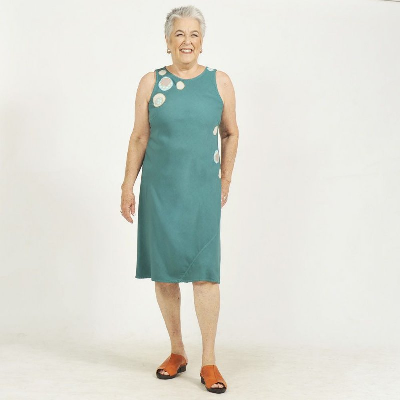 Vestido Midi Plus Size Bamboo Bolas Jade