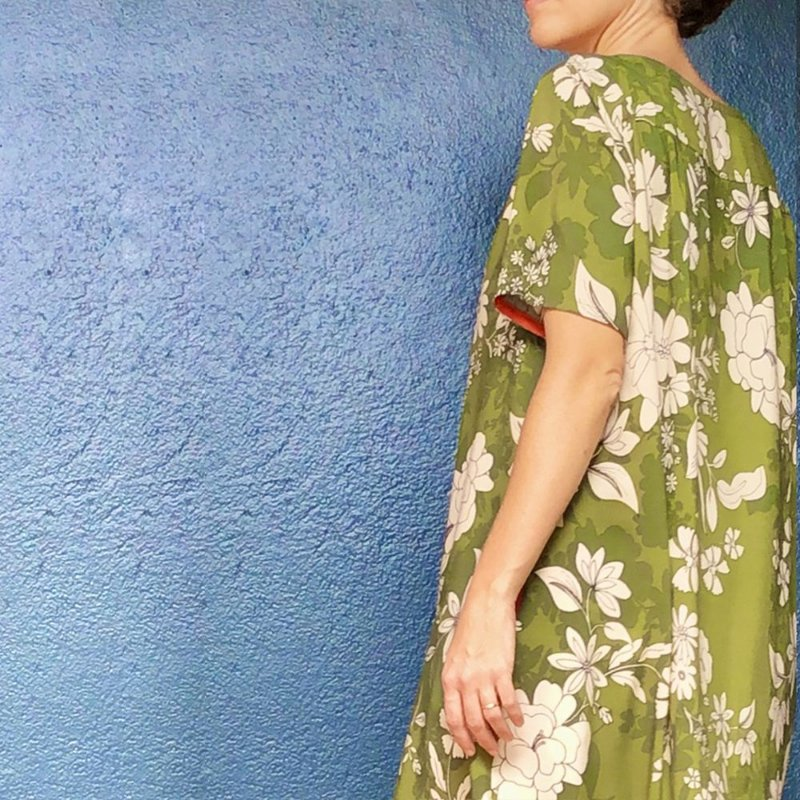 Vestido Riviera Verde Florido