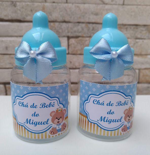 Mamadeira Personalizada Azul Ou Rosa Vazia Inova Baby