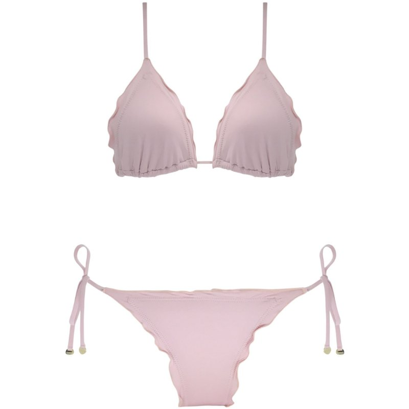 ROSA BLUSH - TOP CORTININHA FRUFRU |BOTTOM LACINHO FRU FRU