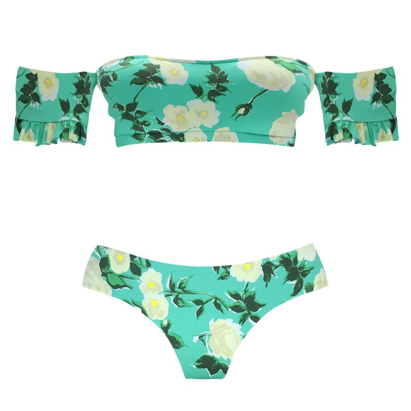 FLORESCER VERDE - TOP BARDOT | BOTTOM NOVO CORTE LARGO