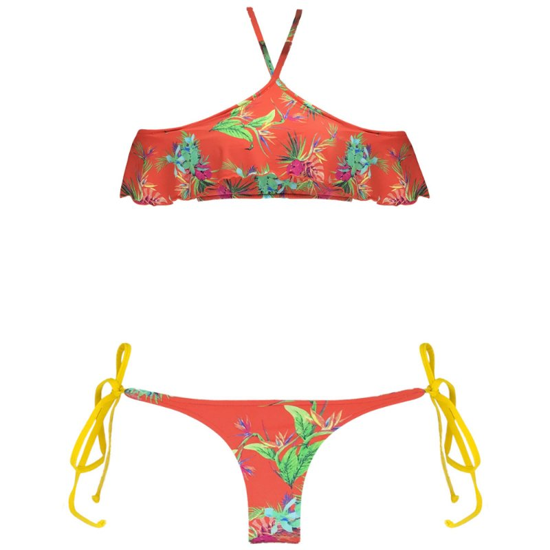 SOLAR - TOP CROPPED BOJO BABADO NOVO | BOTTOM LACINHO DUPLA FACE