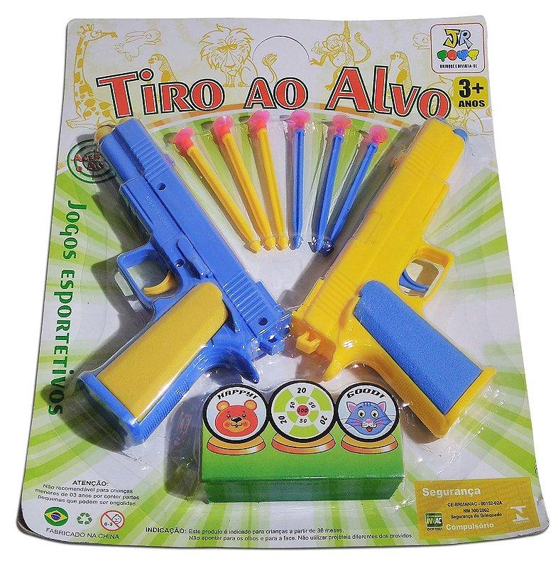 af02e11f2e86f Kit Armas De Brinquedo Tiro Ao Alvo Jogo Esportivo