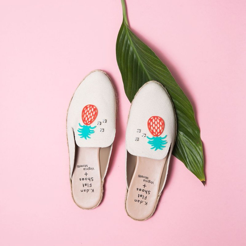 Mule Abacaxi K.dan Flat Shoes + Virgínia Moretti