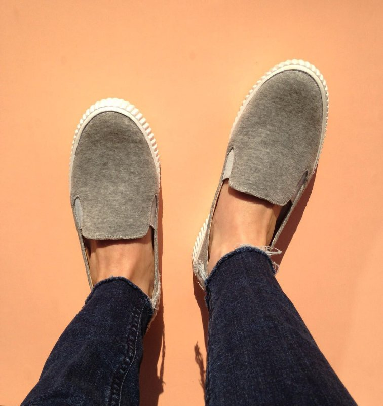 Slip On Plush Cinza