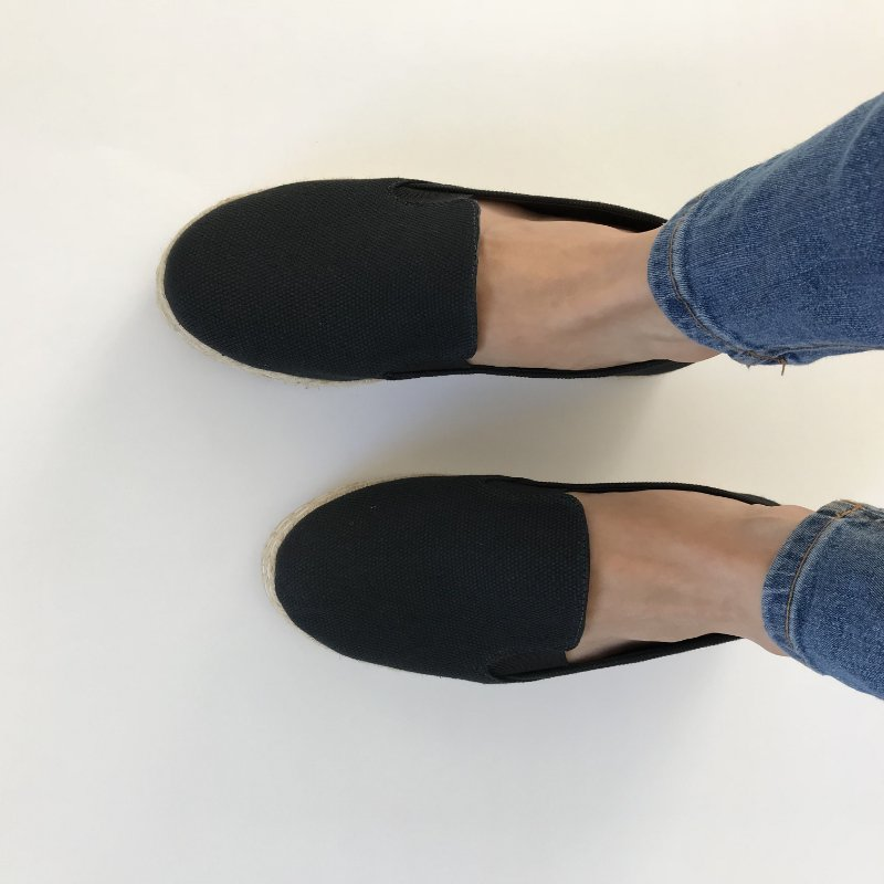Slip On Double Preto
