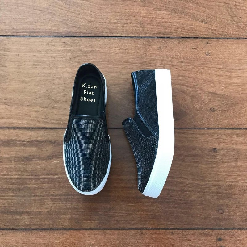 Slip On Lurex Preto